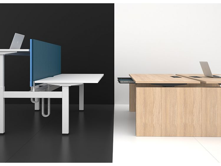 Motion sit-stand desk