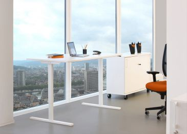 Easy sit-stand desk