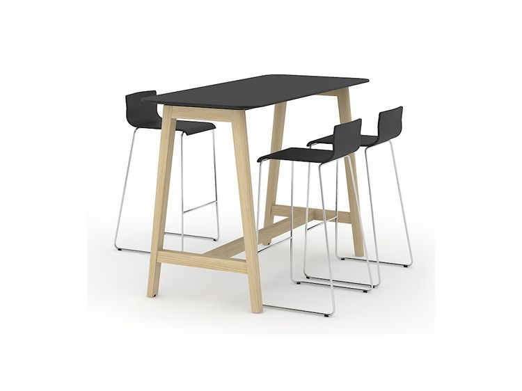 Nova wood high table